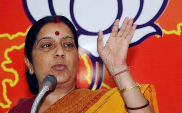 Leader of opposition in Lok Sabha Sushma Swaraj