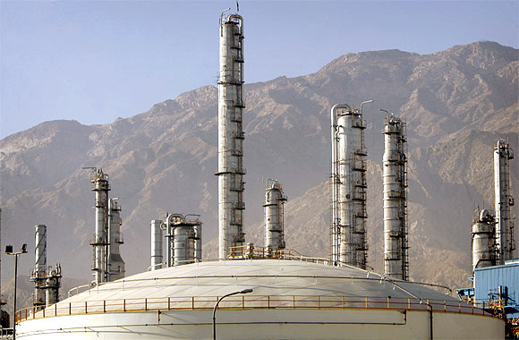 A view of a petrochemical complex in Assaluyeh seaport on Iran's Persian Gulf coast