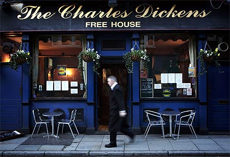 The Charles Dickens pub in London.