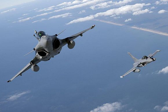 The Dassault Rafale in action