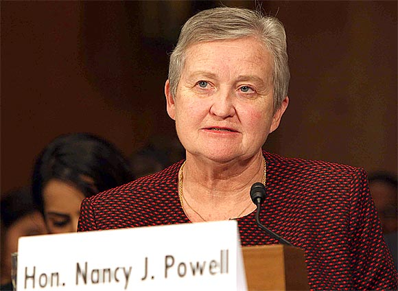 Nancy J Powell, US Ambassador-designate to India during her confirmation hearing at the Senate Foreign Relations Committee in Washington DC