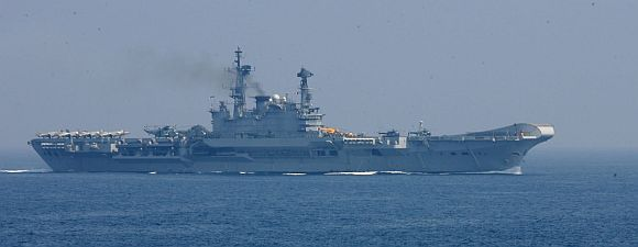 INS Viraat in action