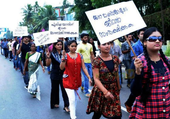 Protests in Kerala demanding a new dam
