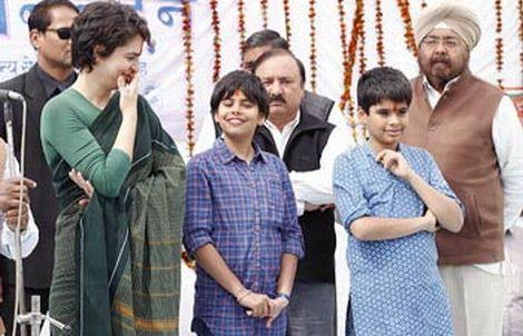 Priyanka with Raihan and Miraya