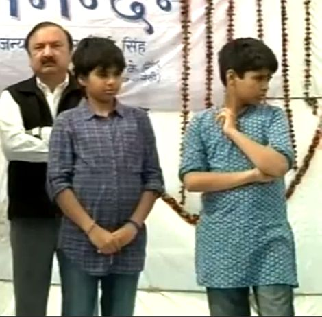 First Look: Priyanka's kids on UP poll scene