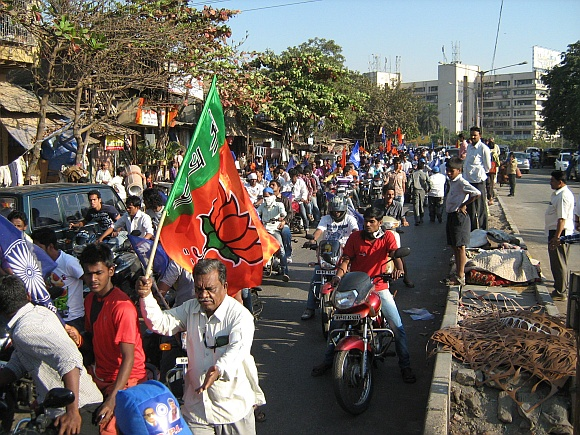 Bikers at Dilip's rally