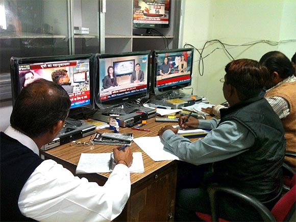 A 'war-room' in Uttar Pradesh, which runs on reporting from the field, monitors the election process.