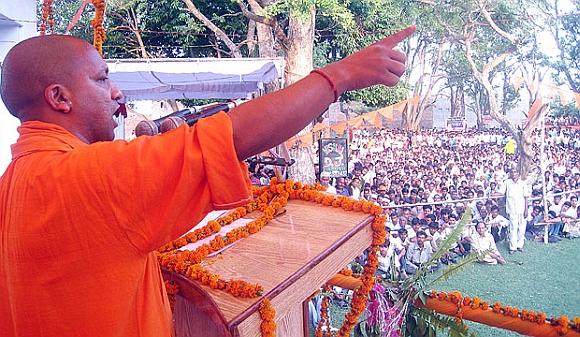 Gorakhpur member of Parliament Yogi Adityanath