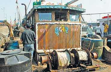 Kuber, the boat used by the 10 terrorists to reach Mumbai