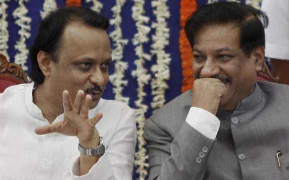 Maharashtra Deputy CM Ajit Pawar and CM Chavan