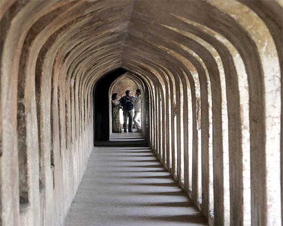 The magnificent Bhulbhulaiya inside the Bara Imambara in Lucknow