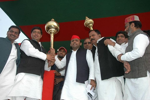 Akhilesh Yadav, the man of the hour!