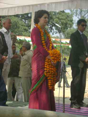 Priyanka Gandhi in Amethi