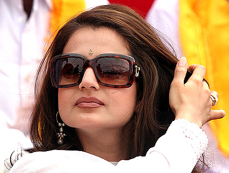 Actress Amisha Patel, above, along with Nagma, Celina Jaitly, Mahim Chaudhry are campaigning in the UP polls