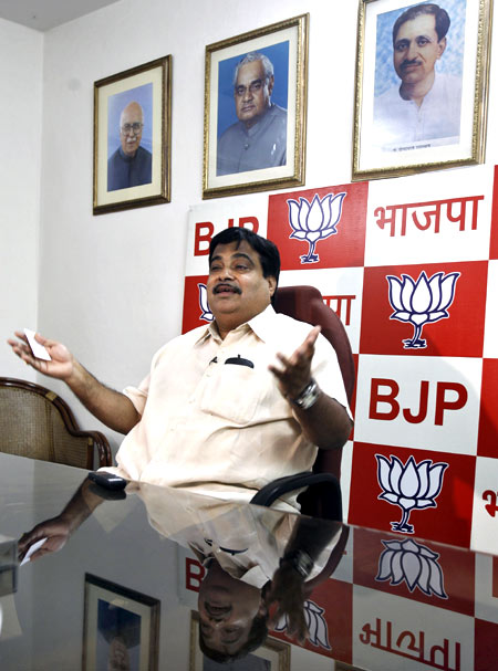 Nitin Gadkari, president of the Bharatiya Janata Party