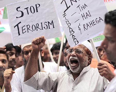 A anti-terror rally in Mumbai after the bomb blast outside the Delhi high court last September