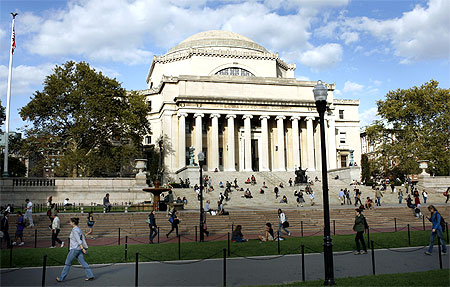 The Columbia University campus in New York City.