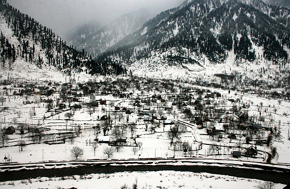A view of Sonamarg covered with snow