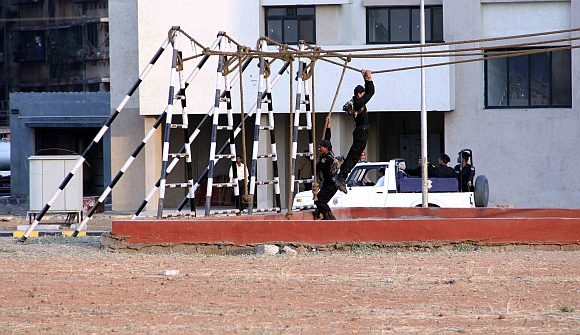 NSG commandos displaying their skills