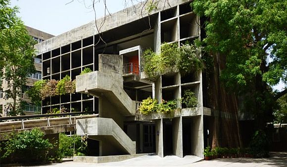 The mill owners' house in Ahmedabad by Le Corbusier