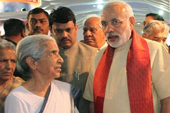 File image of Modi with Gujarat Governor Kamla Beniwal