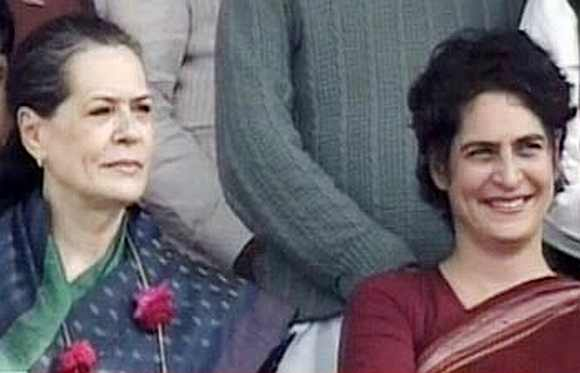 Congress President Sonia Gandhi and her daughter Priyanka held a joint rally in Rae Bareli on Tuesday