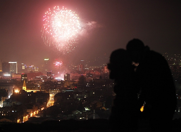 In Pictures: How the world ushered in 2012