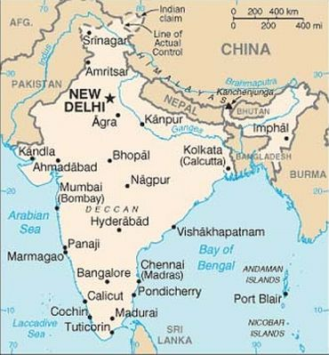 Latest India Map.Pic New India Map On Us Website Sparks Controversy Rediff Com