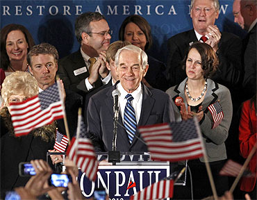 Republican presidential candidate Congressman Ron Paul