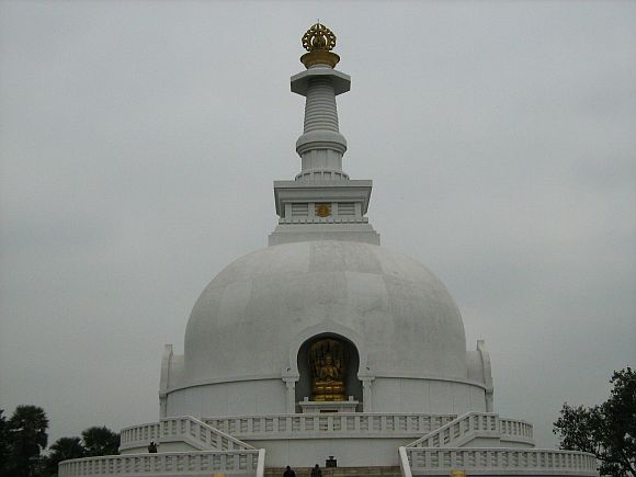 The Japanese built the Peace Pagoda of the World