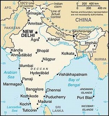 Us Corrects India Map On Government Website Rediffcom India News - India-us-map
