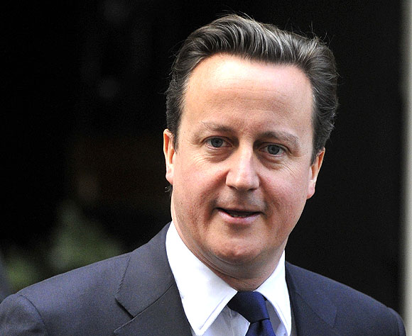 Britain's Prime Minister David Cameron leaves Downing Street in central London