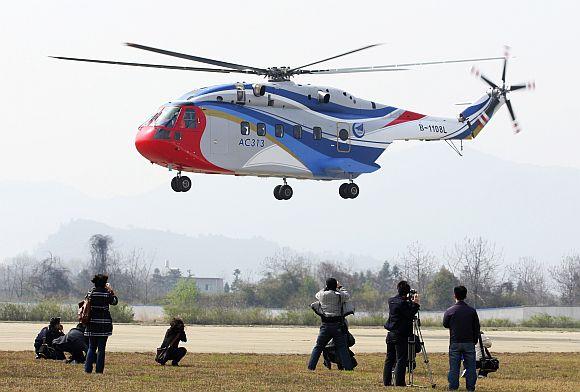 AC313 is seen during its debut in Jingdezhen