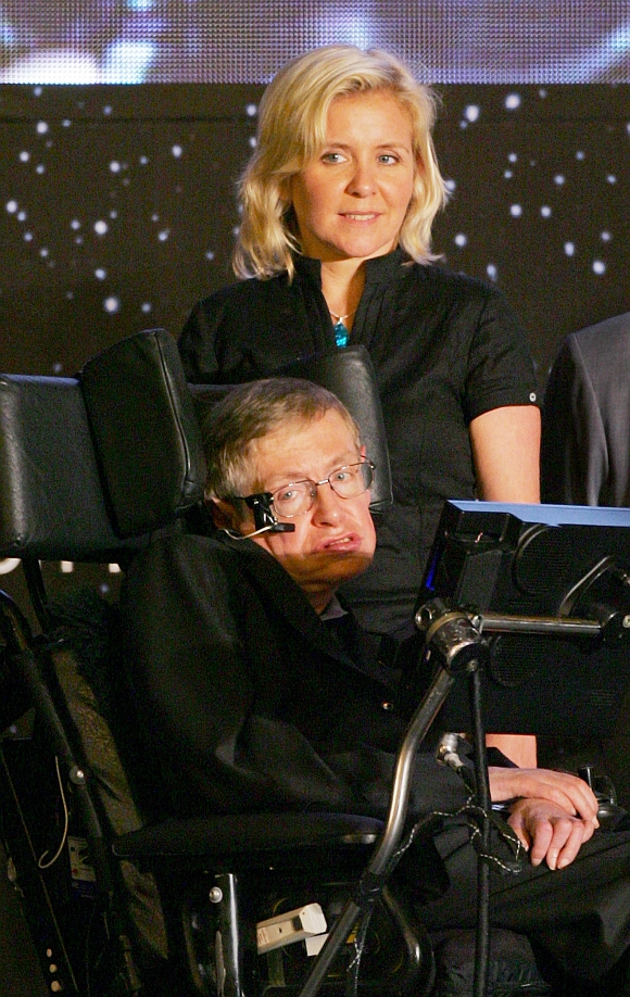 Hawking with his daughter Lucy