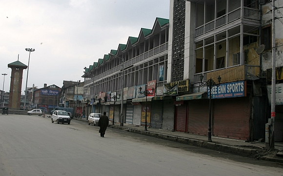 Normal life was hit in Kashmir on Friday because of the shutdown