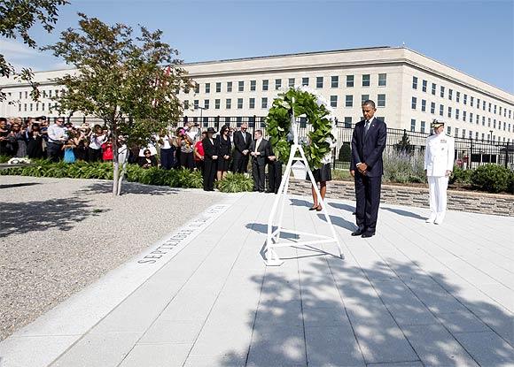 US President Barack Obama at the Pentagon
