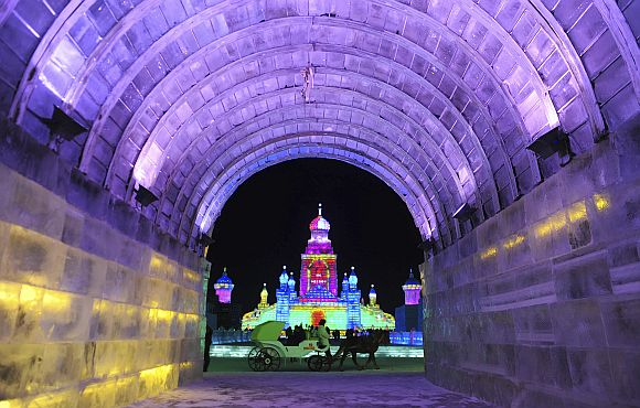 Spectacular ice marvels of Harbin