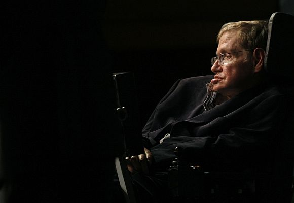 File image of Stephen Hawking addressing a public meeting in Cape Town