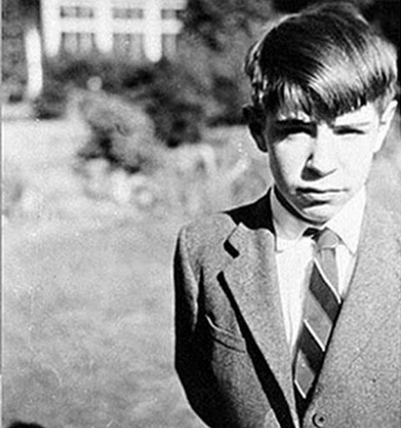 An archive image of Stephen Hawking during his childhood days