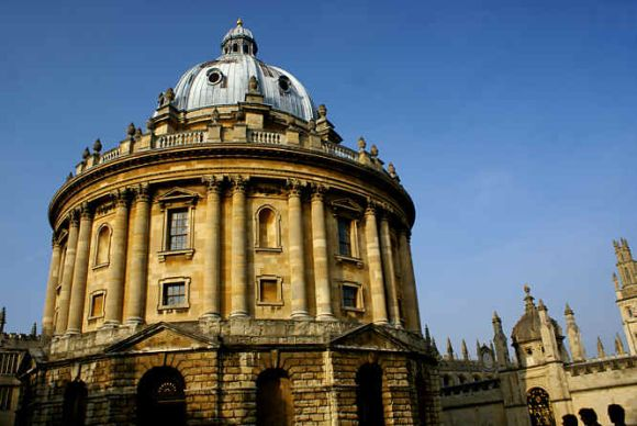 A file image of Oxford University's Radcliffe Camera building. Hawking attended major in physics at Oxford, though he wanted to pursue in mathematics.