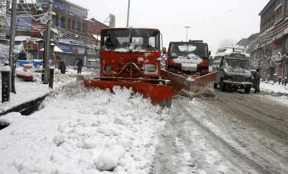 All major roads, including the main highway connecting the Kashmir valley with Jammu and the rest of India, are closed
