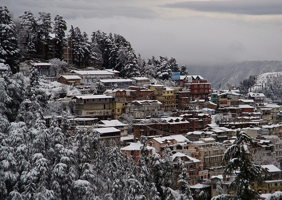 A view of Shimla town