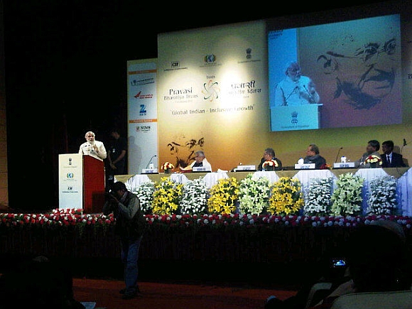 Gujarat CM delivers a speech at the Pravasi Bharatiya Divas in Jaipur