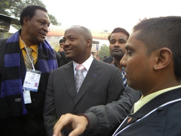 Brian Lara at the Jaipur PBD