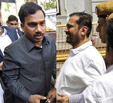 A Raja and Suresh Kalmadi, who are currently lodged in Tihar Jail on charges of corruption