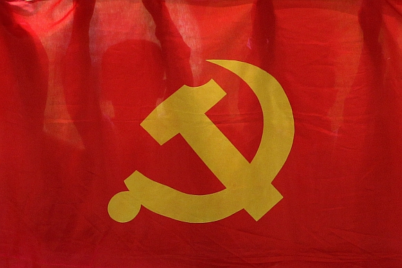 A flag of China's Communist Party
