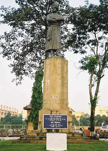 Swami Vivekananda's statue near the Gateway of India in Mumbai.