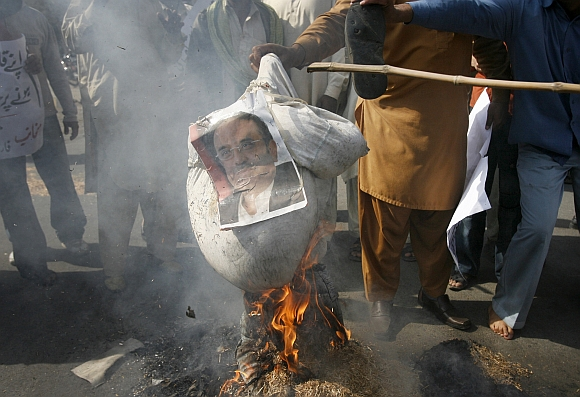 An anti-government protest in Pakistan
