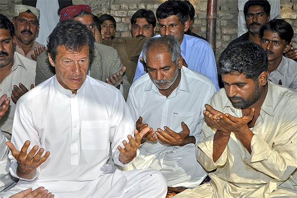 Imran Khan with his supporters