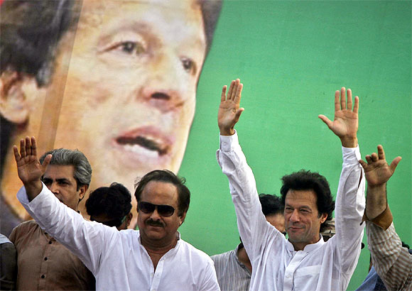 Imran Khan at a rally